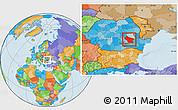 Political Location Map of Buzau