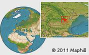 Satellite Location Map of Buzau
