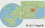 Savanna Style Location Map of Buzau