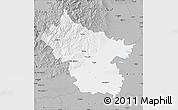 Gray Map of Buzau