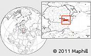 Blank Location Map of Calarasi