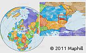 Political Location Map of Calarasi