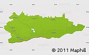 Physical Map of Calarasi, cropped outside