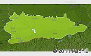 Physical Map of Calarasi, darken