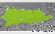 Physical Map of Calarasi, desaturated