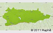 Physical Map of Calarasi, lighten