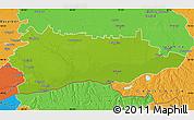 Physical Map of Calarasi, political outside
