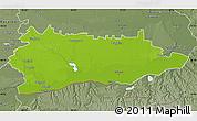 Physical Map of Calarasi, semi-desaturated