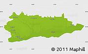 Physical Map of Calarasi, single color outside