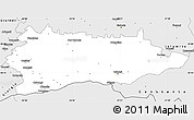 Silver Style Simple Map of Calarasi