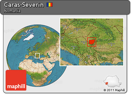 Free Satellite Location Map of Caras-Severin