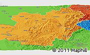 Political Panoramic Map of Caras-Severin