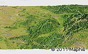 Satellite Panoramic Map of Caras-Severin