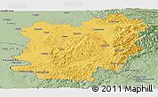 Savanna Style Panoramic Map of Caras-Severin