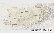 Shaded Relief Panoramic Map of Caras-Severin, lighten