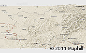Shaded Relief Panoramic Map of Caras-Severin