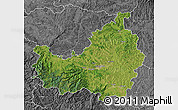 Satellite Map of Cluj, desaturated