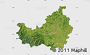 Satellite Map of Cluj, single color outside