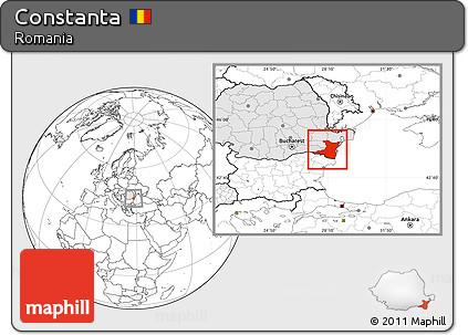 Map of Constanta