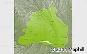 Physical Map of Dolj, semi-desaturated