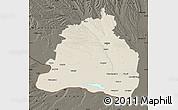 Shaded Relief Map of Dolj, darken