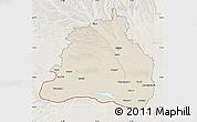 Shaded Relief Map of Dolj, lighten