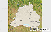 Shaded Relief Map of Dolj, satellite outside