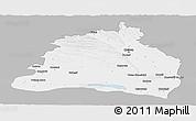 Gray Panoramic Map of Dolj, single color outside