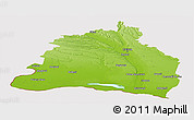 Physical Panoramic Map of Dolj, cropped outside