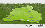 Physical Panoramic Map of Dolj, darken