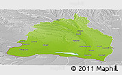 Physical Panoramic Map of Dolj, lighten, desaturated