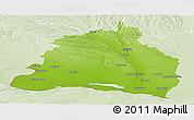 Physical Panoramic Map of Dolj, lighten