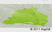 Physical Panoramic Map of Dolj, lighten, semi-desaturated