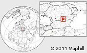 Blank Location Map of Giurgiu