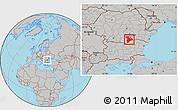 Gray Location Map of Giurgiu
