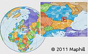 Political Location Map of Giurgiu
