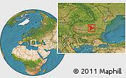 Satellite Location Map of Giurgiu