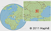 Savanna Style Location Map of Giurgiu