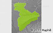 Physical Map of Giurgiu, desaturated