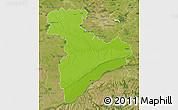 Physical Map of Giurgiu, satellite outside