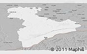 Gray Panoramic Map of Giurgiu