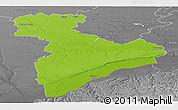 Physical Panoramic Map of Giurgiu, desaturated