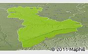 Physical Panoramic Map of Giurgiu, semi-desaturated