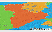 Political Panoramic Map of Giurgiu