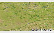 Satellite Panoramic Map of Giurgiu