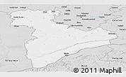 Silver Style Panoramic Map of Giurgiu