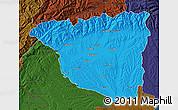 Political Map of Gorj, darken