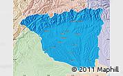 Political Map of Gorj, lighten