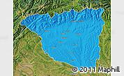 Political Map of Gorj, satellite outside