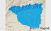 Political Map of Gorj, shaded relief outside